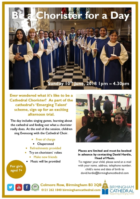 Be A Girl Chorister For A Day