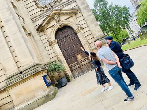 A FREE short tour of the churchyard at Birmingham Cathedral