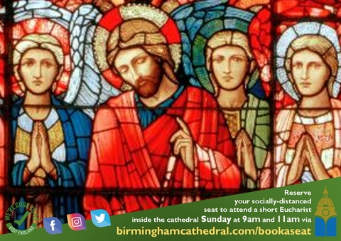 Book your seat for a short Sunday Eucharist 11am Service