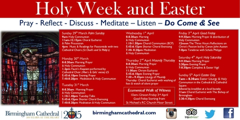 Holy Week - Wednesday Services