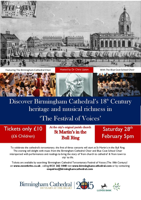 Birmingham Cathedral Tercentenary Festival of Voices (The 18th Century)