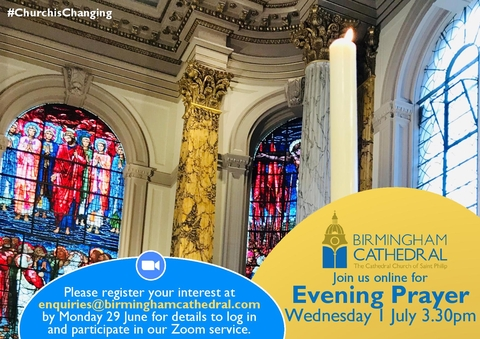 Please sign up to join us for Evening Prayer via Zoom