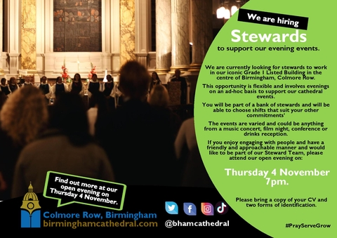 Open Evening - Join our team of paid stewards